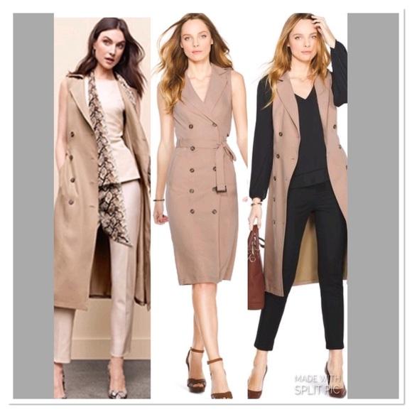 c3f9b967ec18b White House Black Market sleeveless Trench Dress. M_5ad4e5061dffdac06d6111bb